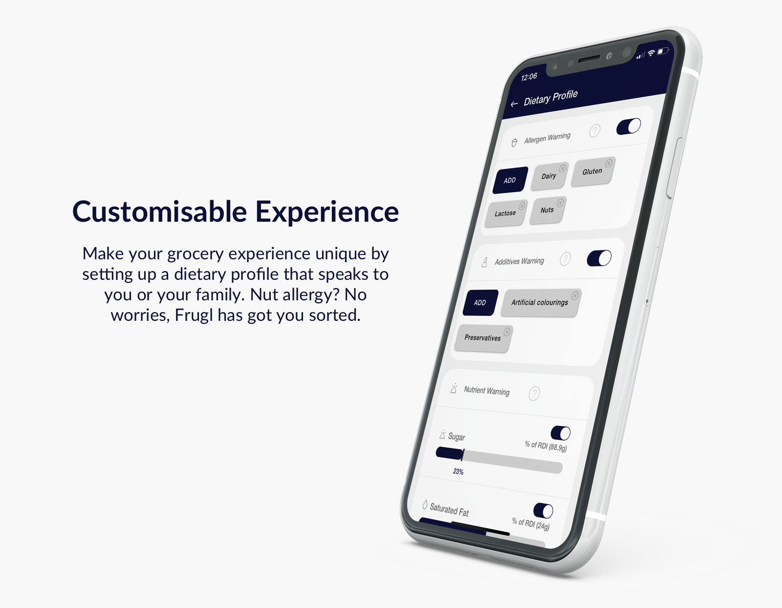 Customisable experience